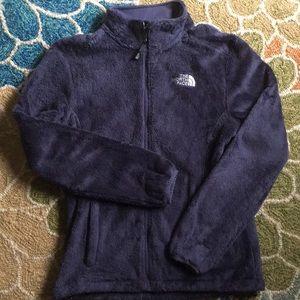 North Face blue full zip jacket